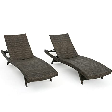 Super Amazon Com Reclining Daybed Double Set Of Two Lounge Chairs Bralicious Painted Fabric Chair Ideas Braliciousco