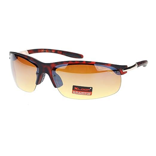 a19c1b3c938 ... HD Xloop Mens Metal Half Rim Rimless Rectangular Sunglasses ...