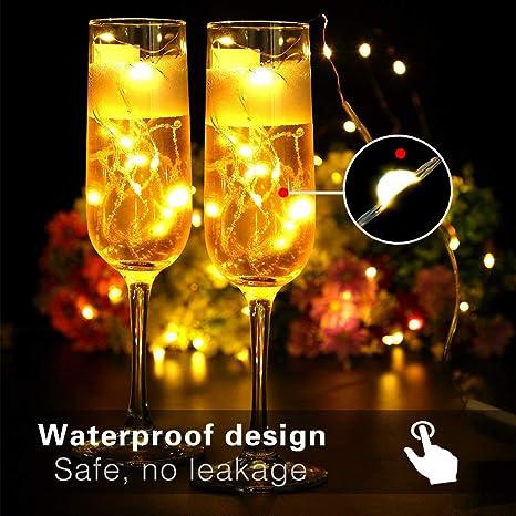 Vegkey Cadena de Luces,5M 50 Leds Luces de Cadena LED 8 Modos Luces con Control Remoto para Impermeable Decorativas Navidad, Jardín,Wedding,Fiesta de ...