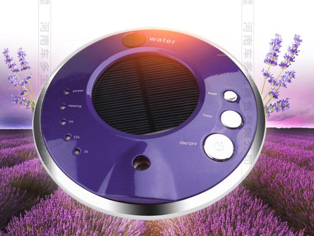 BALIYIN Solar Car Air Purifier Remove Formaldehyde, Humidified and Aromatherapy Air Purifier, Smart Multifunctional Air Purifier (Purple)