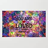 Society6 YOU ARE LOVED Everlasting Love Jeremiah 31 3 Art Abstract Floral Garden Christian Jesus God Faith Rug 4' x 6'