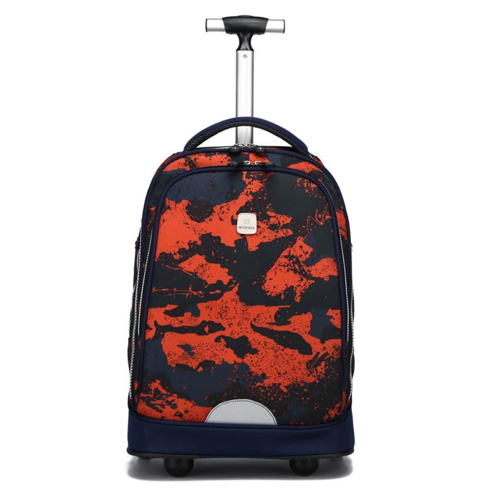 車輪付きラップトップバックパック、ハイスクール、カレッジバックパック、ローリングスクールバッグ、ビジネスバックパックに最適。  H B07GZDRN2T