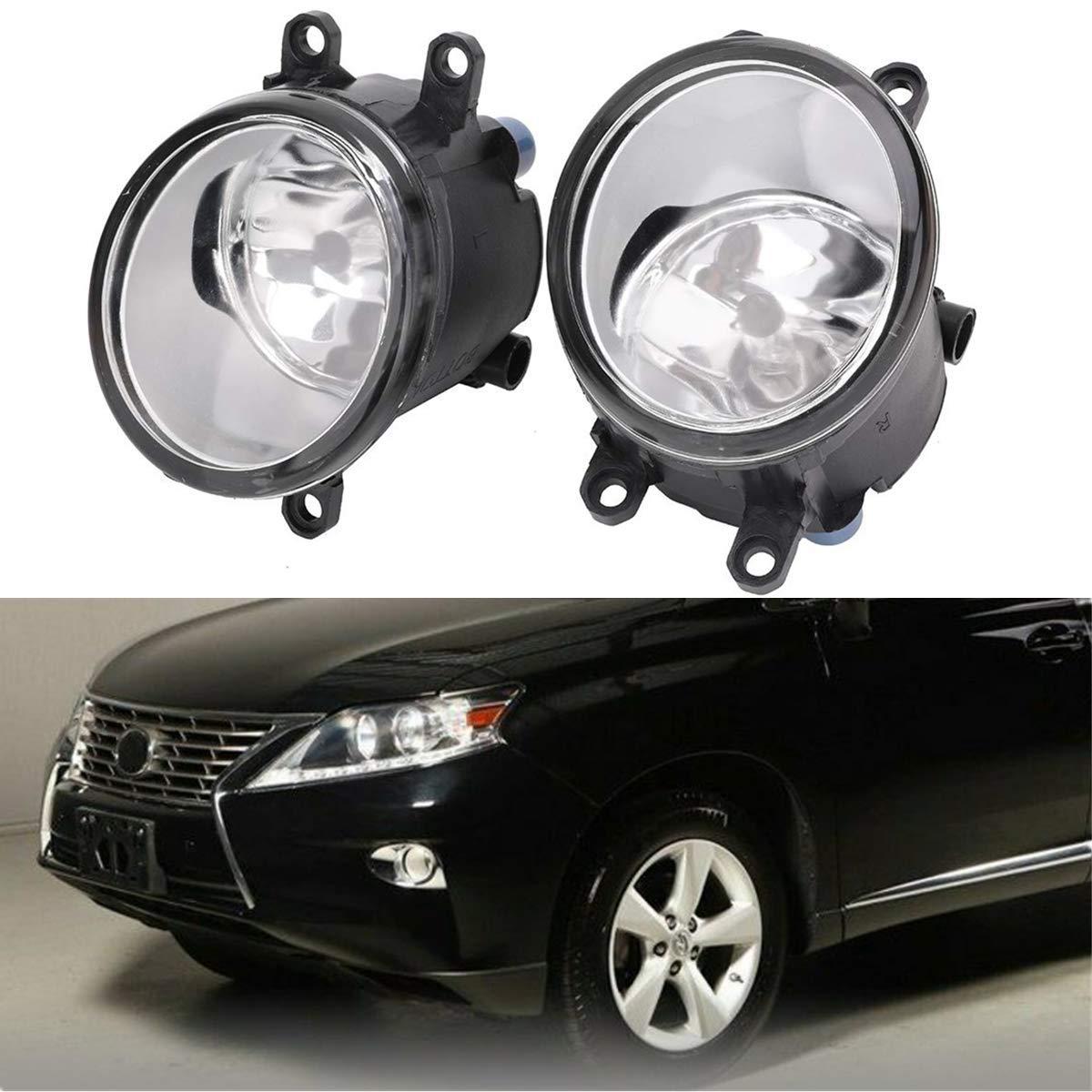 Clear Fits Winjet 09-12 Toyota Venza Fog Lights Lens Wiring Kit