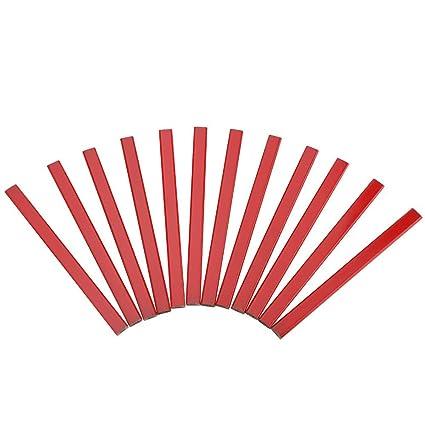 72 Piezas 175 mm L/ápices de Carpintero Octogonal Plomo Negro Duro Herramienta de Marcado de Carpinter/ía