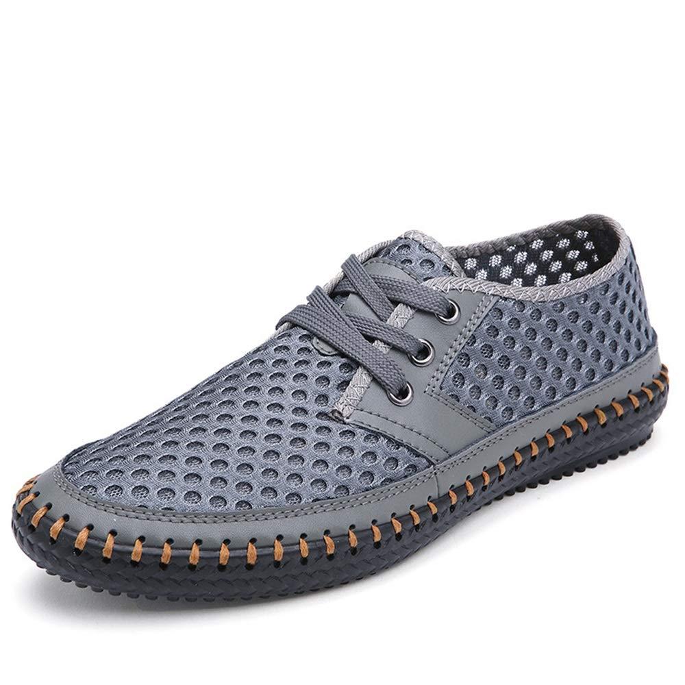 Fuxitoggo Große Breathable Schuhe für Männer schnüren Leder Sich heraus höhlen echtes Leder schnüren bequemes Derby aus (Farbe : Grün, Größe : EU 40) Hellblau 0d73d5