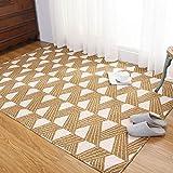 Brown Cotton Household Tatami Crawling mat Machine Washable Washable