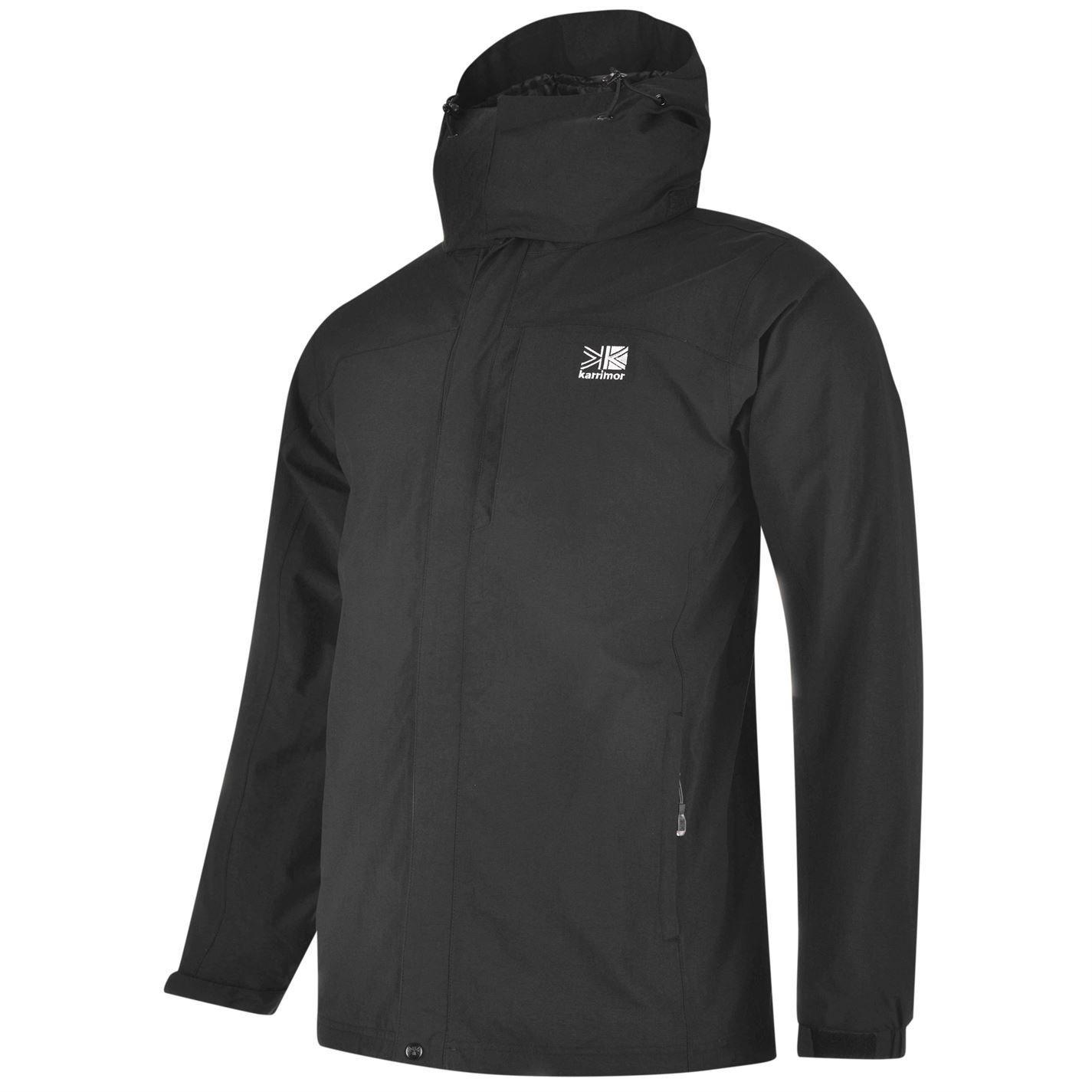 Karrimor para hombre 3 en 1 chaqueta forro de malla Concealable capucha resistente al agua