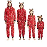 Pijamas una Pieza Familiares de Navidad, Conjuntos Navideños de Algodón Diseño de Rayas para Mujeres Hombres Niño Bebé…