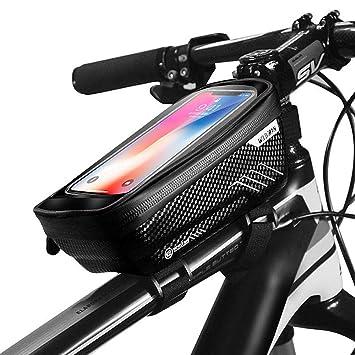 cdaaa7116d1 GETECK Bolsa Bicicleta Impermeable,Soporte Bolsa Movil Bicicleta Funda  Móvil Soporte de Bici Manillar para
