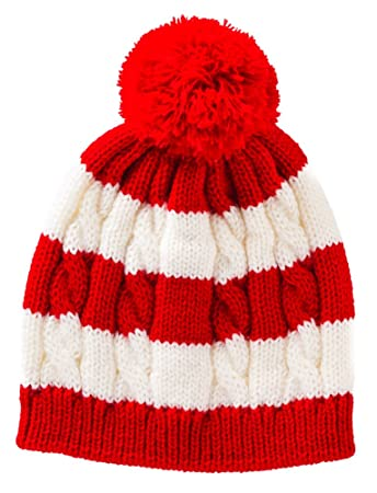 Amazon.com  Red And White Striped Knit Winter Baby Hat  Baby a18c825d3d7