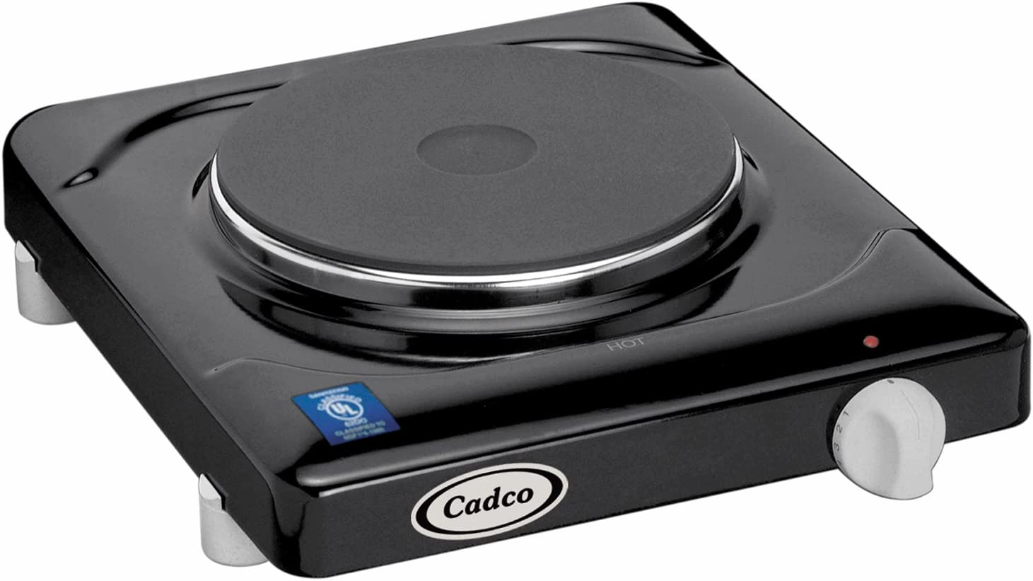Cadco KR-1 Portable Cast Iron Hot Plate, 120-Volt