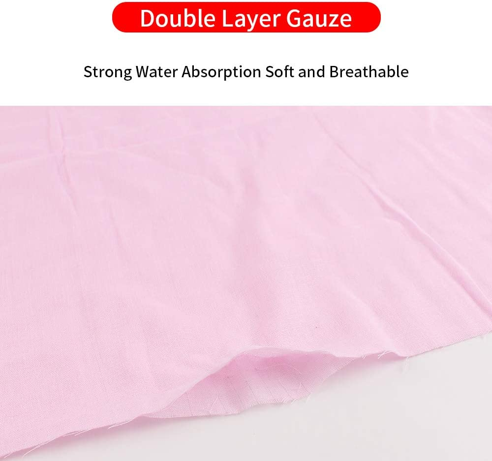 Zsedrut Smooth Gauze Craft Fabric Handmade DIY Quilting Sewing Material Cotton Reusable and Breathable,Soft,Free Cutting for Sewing DIY Crafts Blue, 1Yard
