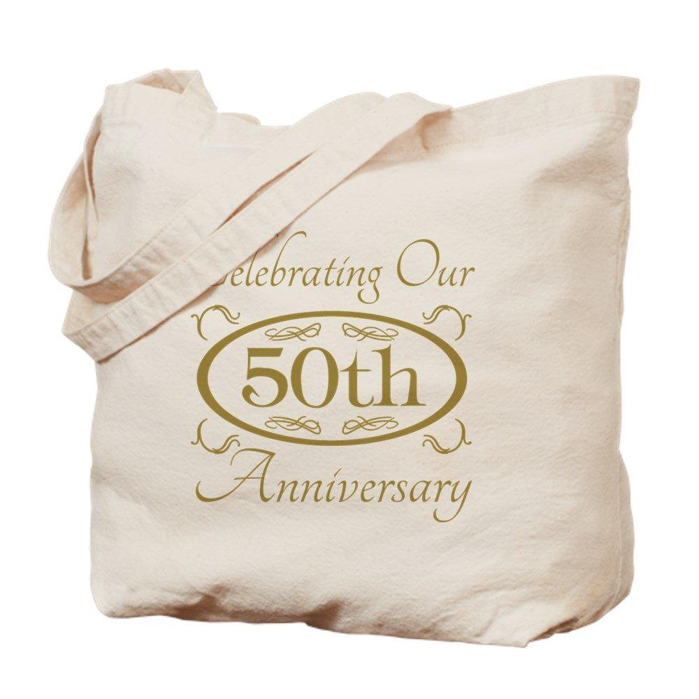 CafePress – 50回結婚記念日 – ナチュラルキャンバストートバッグ、布ショッピングバッグ M ベージュ 13772226826893C B073QTPM4C MM