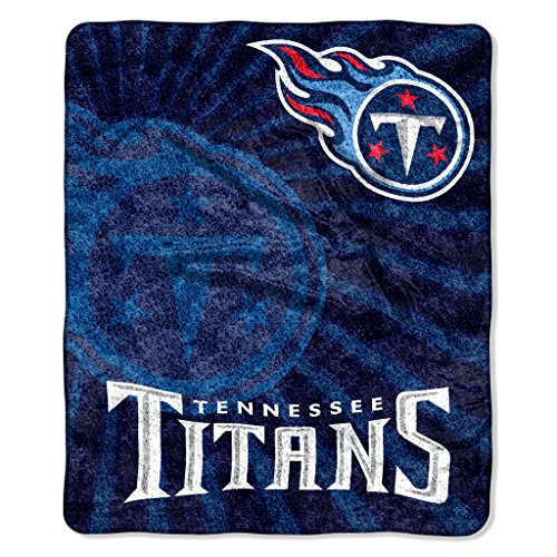 Tennessee Titans Blanket - The Northwest Company Officially Licensed NFL Tennessee Titans Strobe Sherpa on Sherpa Throw Blanket, 50