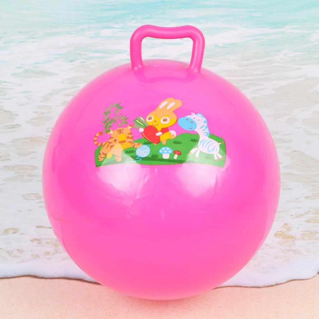Handle Ball , Bouncy Ball With Handles For Kid Holiday Pool Party Swimming Garden Beach Ball Toy (A)