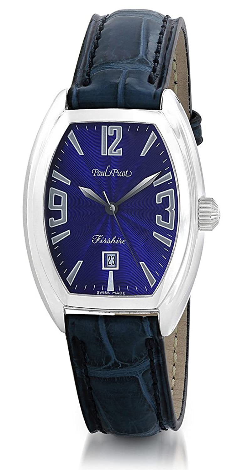 Paul Picot Firshire Quartz 2000 Stainless Steel Womens Luxury Strap Watch Calendar 4099