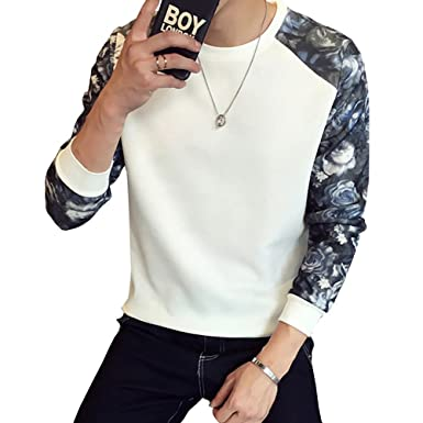 Blala New Full O-Neck Real Floral Casual Sweatshirt Men Sudaderas Hombre Poleron Mens Sweatshirts