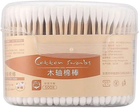 500PCS / Box Tamaño compacto Bastoncillos de algodón naturales ...