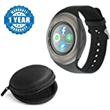 Captcha Y1 Bluetooth Smartwatch with Wired Headphones (Multicolour)