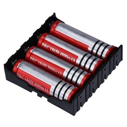 Sannysis Cargador de batería para 4 x 18650 3.7V baterías