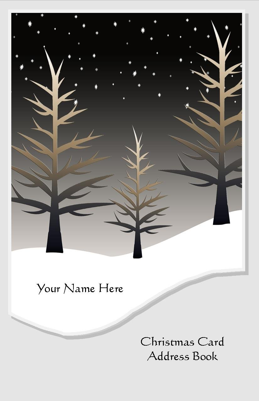 Christmas Card Address Book List Organizer with A-Z Tabs Winter Personalized Gift track 8 years by JDSeals (Image #2)