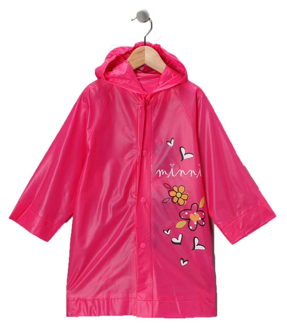 Disney Minnie Mouse Girl's Pink Rain Slicker Size Large 6/7