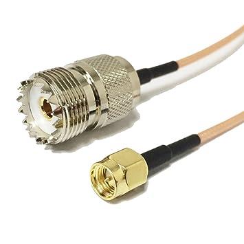 SMA macho a UHF hembra SO239 adaptador RF Cable coaxial RG316 6 inch 15 cm Estados Unidos envío: Amazon.es: Electrónica