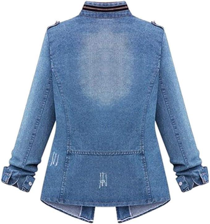 NUOVO Taglie Forti 16 18 20 10 12 14 Giacca di Jeans Donna Jean Giacche Da Donna Rosa