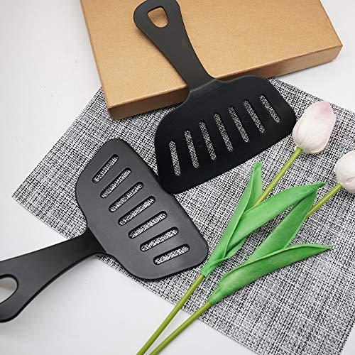 Okonomiyaki Wide Turner Dual Wield Spatula Black 2pcs