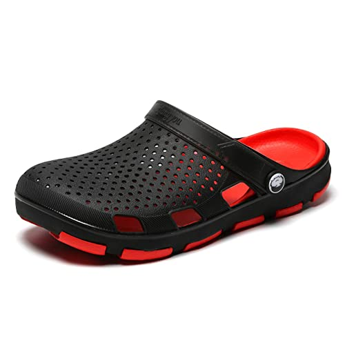 057428f0f4a7 LIBINXIF Mens Slippers Beach Sandals Garden Clog Shoes Breathable Shower  Water Walking Anti-Slip Shoes