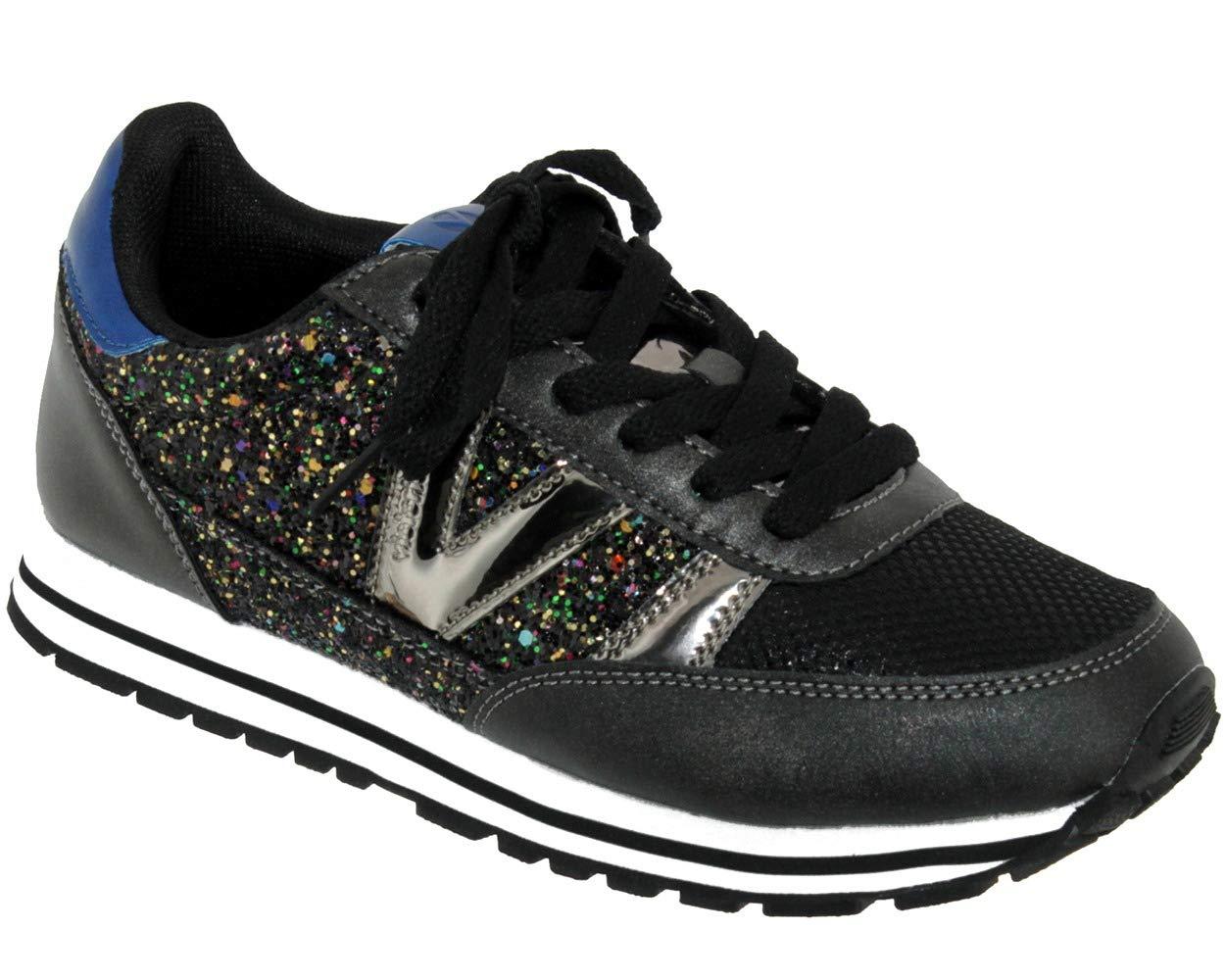 Victoria Deportivo Ciclista Glitter, Zapatillas para Mujer 39 EU Negro (Negro 10)