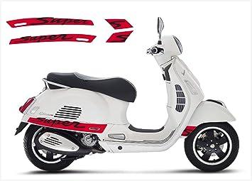 2x Vespa Super Gt Gts Sport Aufkleberroller Motorroller