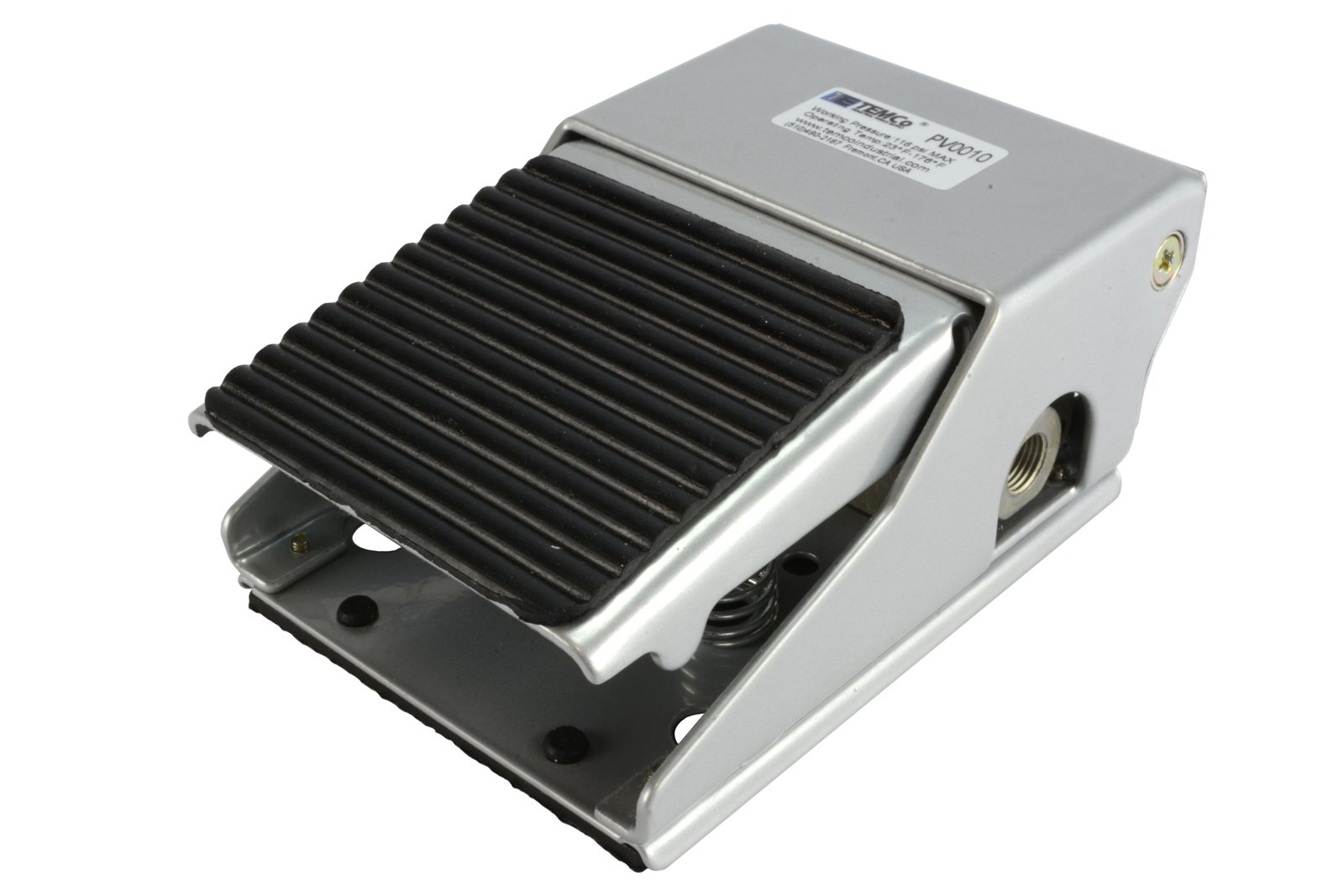 TEMCo Foot Pedal Control Valve 2 Position 3 Port 1/4'' NPT Air Pneumatic Switch 5 Year Warranty
