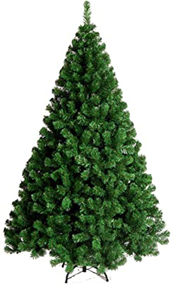 V-Top-Shop Artificial Christmas Tree with Metal Stand for Home Decoration Traditional Style - 6 Feet - Green