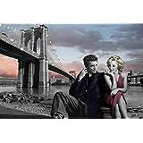 Empire Merchandising Chris Consani - Póster de James Dean y Marilyn Monroe (incluye dos soportes de plástico de 62 cm transparentes)