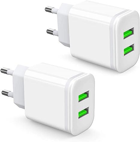 USB Steckdose USB Ladegerät Netzteil 2x USB Buchse 2.1A Handy Smartphone Tablet