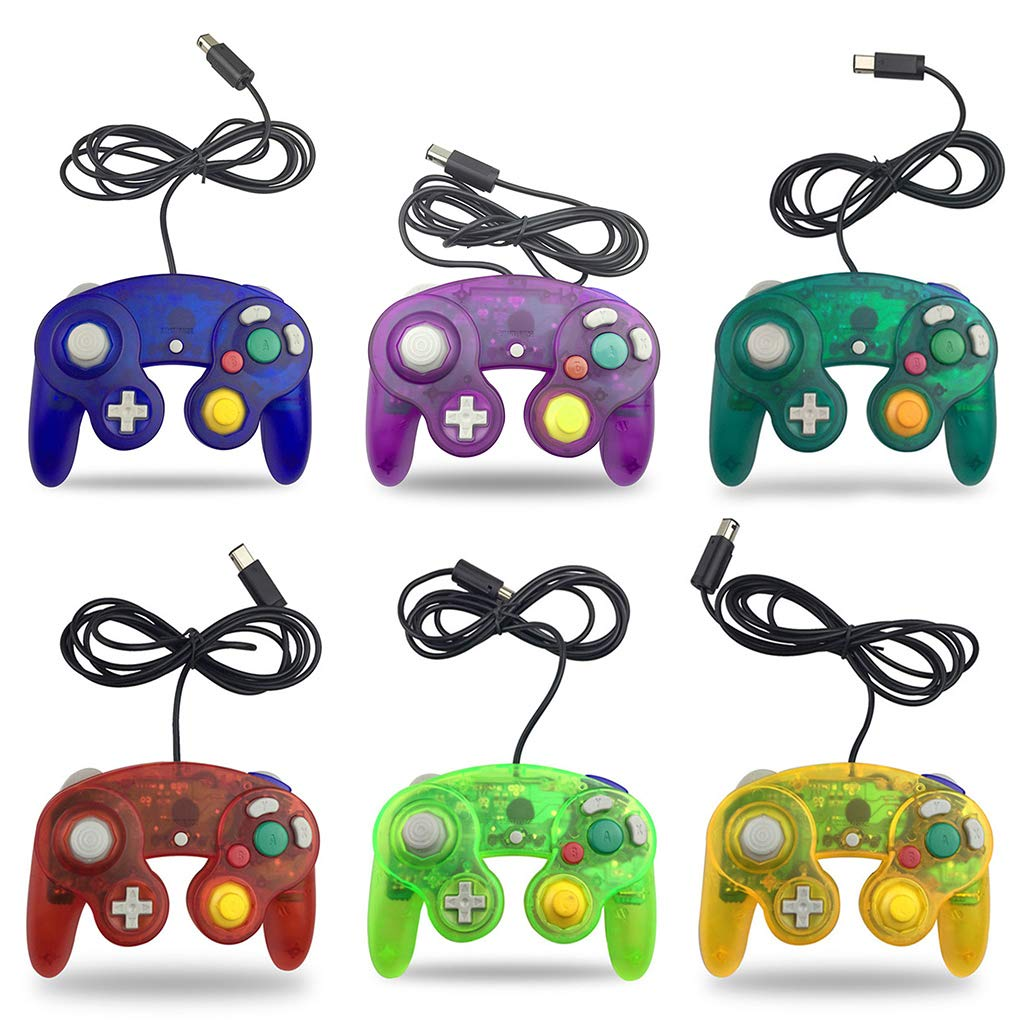 Blue Mya Gamecube GC Wired Game Console Controller for Vibrating Game Handle ABS 5.51x 4.13x2.28inch. 1x10.5x5.8cm