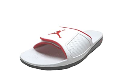 13b631de2b28 Image Unavailable. Image not available for. Color  Nike 854556-103   Jordan  Men s Hydro III Retro Sandal White Red ...