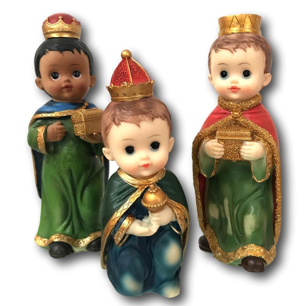Turtle King Three Kings Figurines 8'' Resin Window Box Set of 3