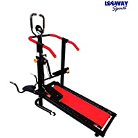 Leeway 4 in 1 Manual Jogger Treadmill| Roller Jogging Machine For Home| Foldable Tread Mill| Multifunction Walking and Jogging Running Exercise Machines| Deluxe Tradmill |Lifeline Cardio Excersice