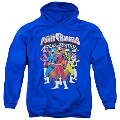 c6110e90adb Amazon.com  A E Designs Power Rangers Ninja Steel Hoodie Team Hoody ...