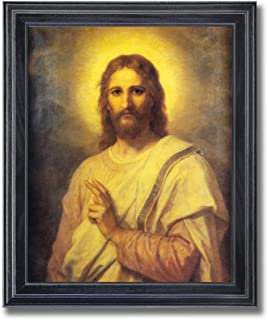 Jesus Christ Radiating Light Religious Wall Picture Framed Art Print  sc 1 st  Amazon.com & Amazon.com: Jesus Christ White Gold and Red Heart and Thorns ...