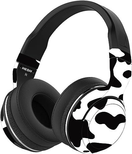 Black Skull Music Headphone Skateboard Laptop Luggage 3M Matte Decal Sticker