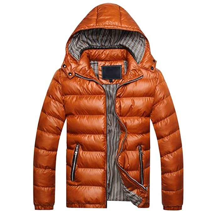 Inlefen Abrigo de algodón de Invierno de los Hombres ...