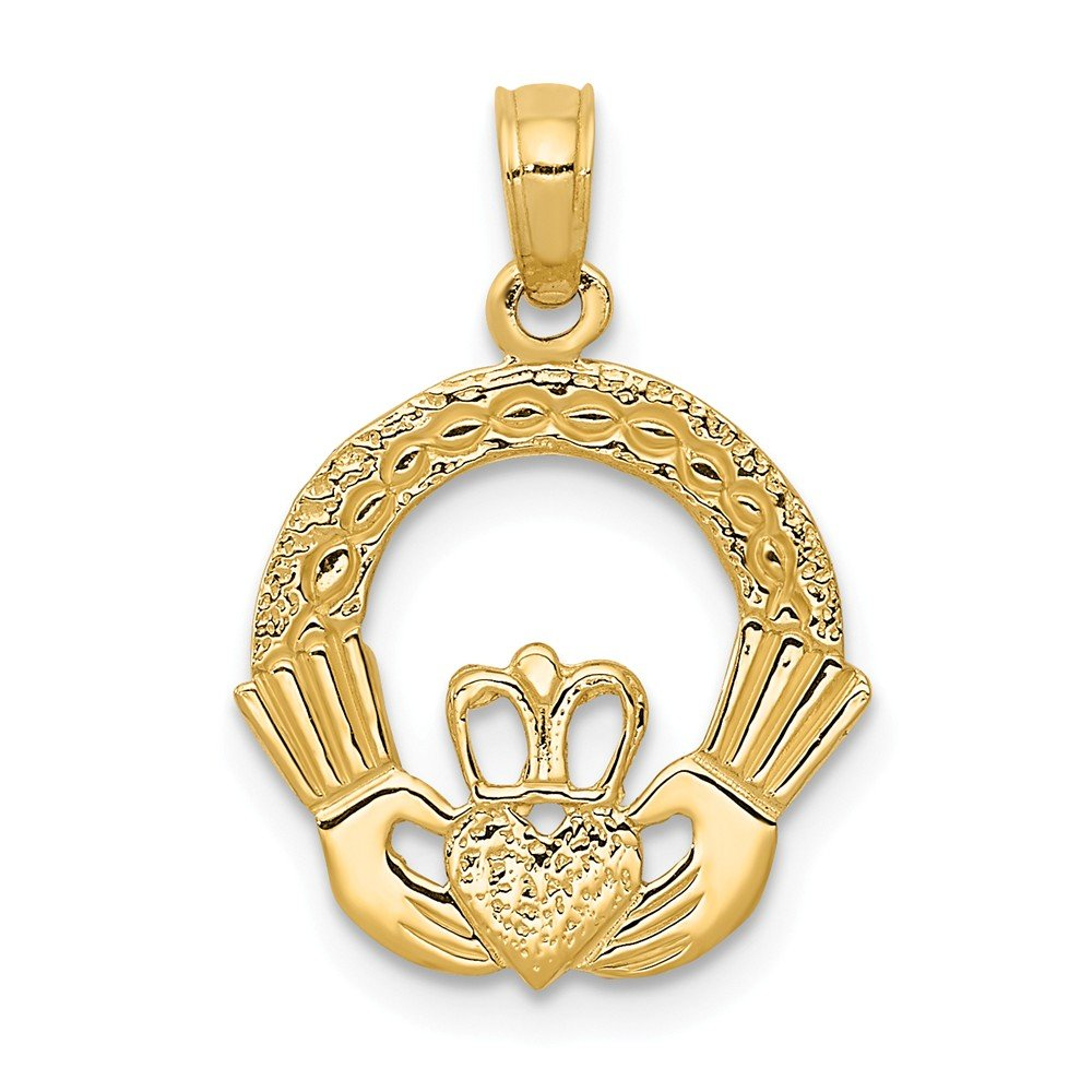 14k Yellow Gold Claddagh Charm by Million Charms (Image #1)