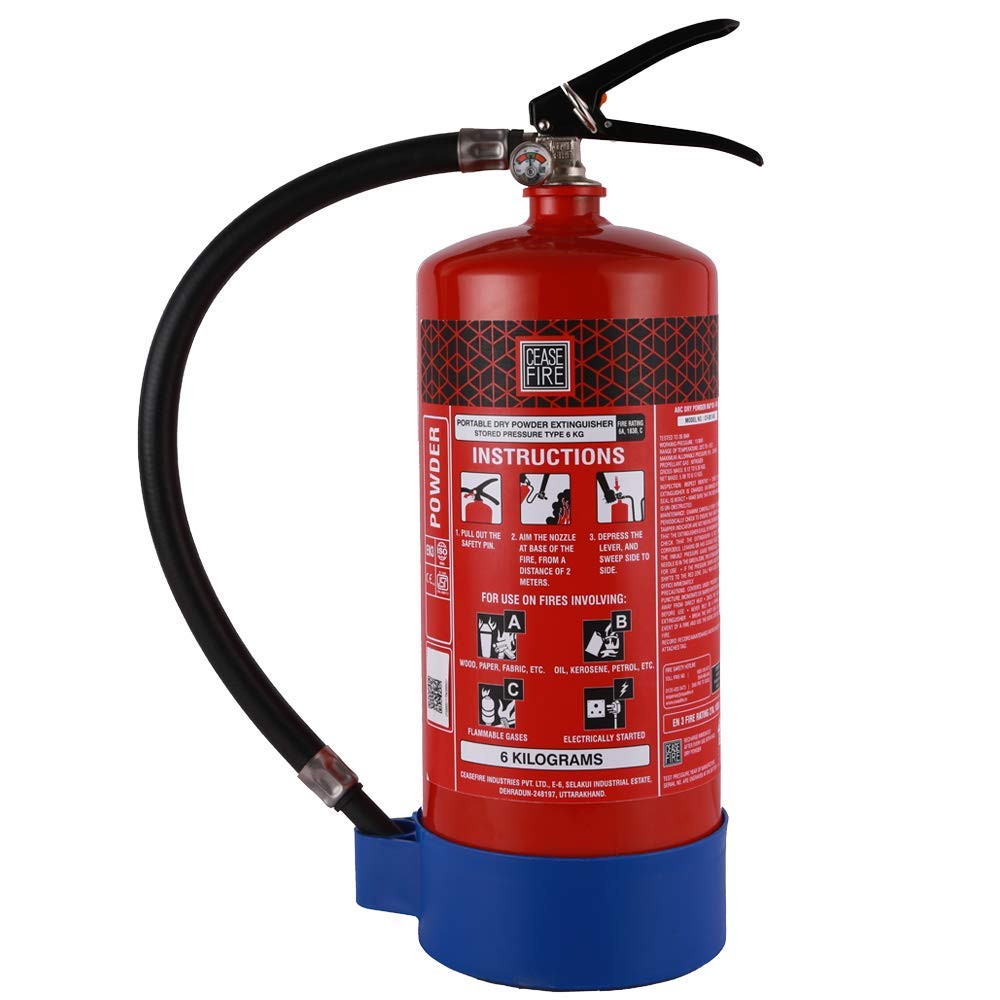 27770e2be699 Ceasefire ABC Powder based Fire Extinguisher (MAP 90) - 6 kg  Amazon.in   Home Improvement