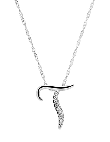 paialco jewelry diamante initial pendant letter t necklace