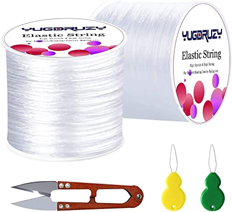 Amazon Com Elastic Bracelet String Cord 0 8mm Jewelry Cord