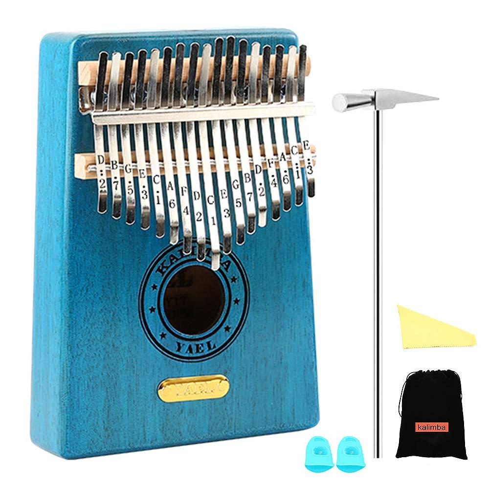 【お気に入り】 QStyle Kalimba 17キー 親指ピアノ プロ チューニングキット付き Kalimba ハンマーと勉強説明書 & QStyle シンプルなシートミュージック 子供 大人 初心者 プロ クリスマスギフトに最適 ブルー 43528-130226 ブルー B07JN8WDCJ, 香川町:39657041 --- a0267596.xsph.ru