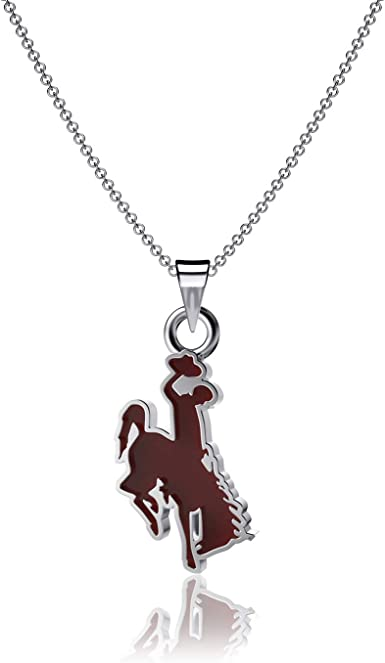Cowboy Steamboat Logo Enamel University of Wyoming Pendant Necklace